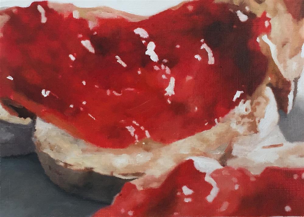 """Jam On Crusty Bread"" original fine art by John Cameron"