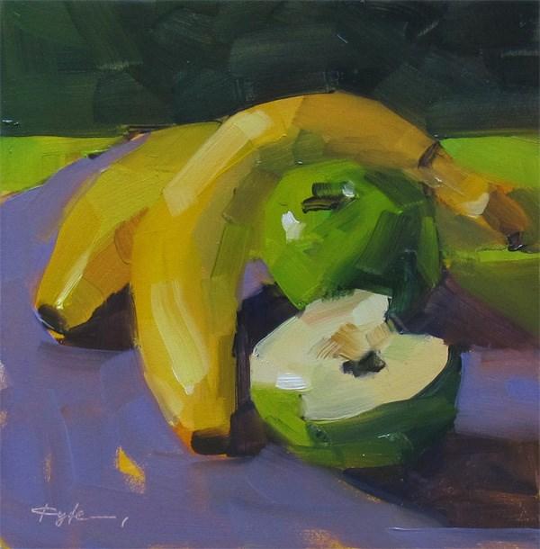 """Banana and Apple"" original fine art by Katia Kyte"