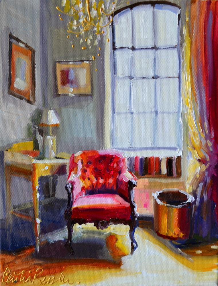 """""""CHAISE ROUGE"""" original fine art by Cecilia Rosslee"""