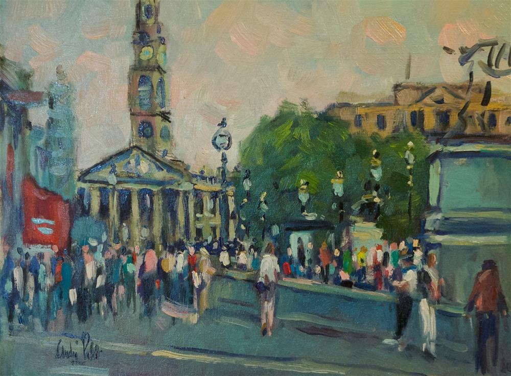"""Trafalgar Square (North Side)"" original fine art by Andre Pallat"