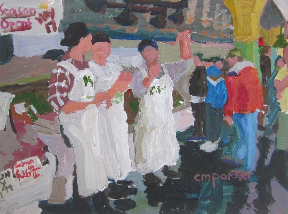 """""""DPW White Challenge"""" original fine art by Christine Parker"""
