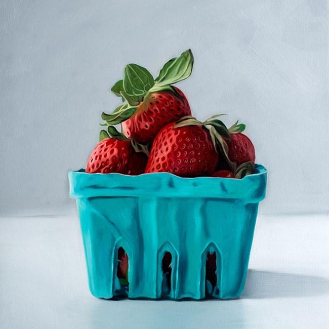 """Spring Strawberries"" original fine art by Lauren Pretorius"