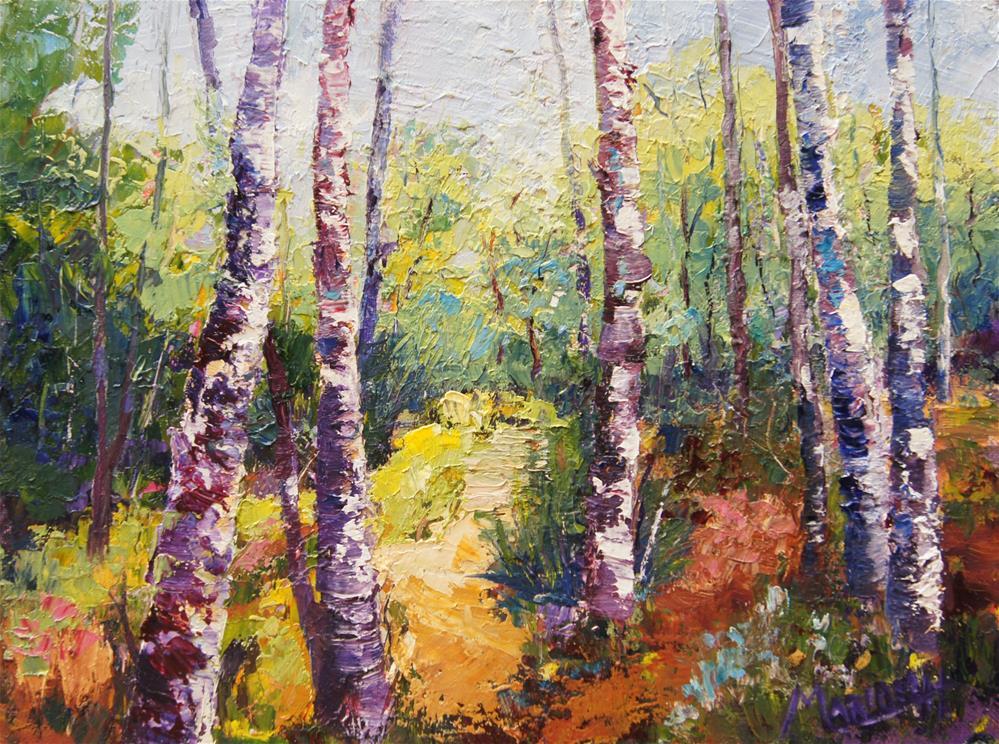 """A splash of sunlight oil painting"" original fine art by Marion Hedger"
