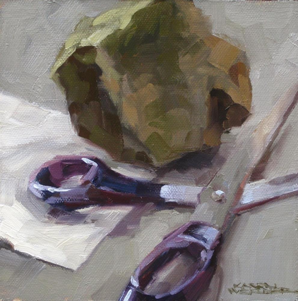 """Rock, Paper, Scissors"" original fine art by Karen Werner"