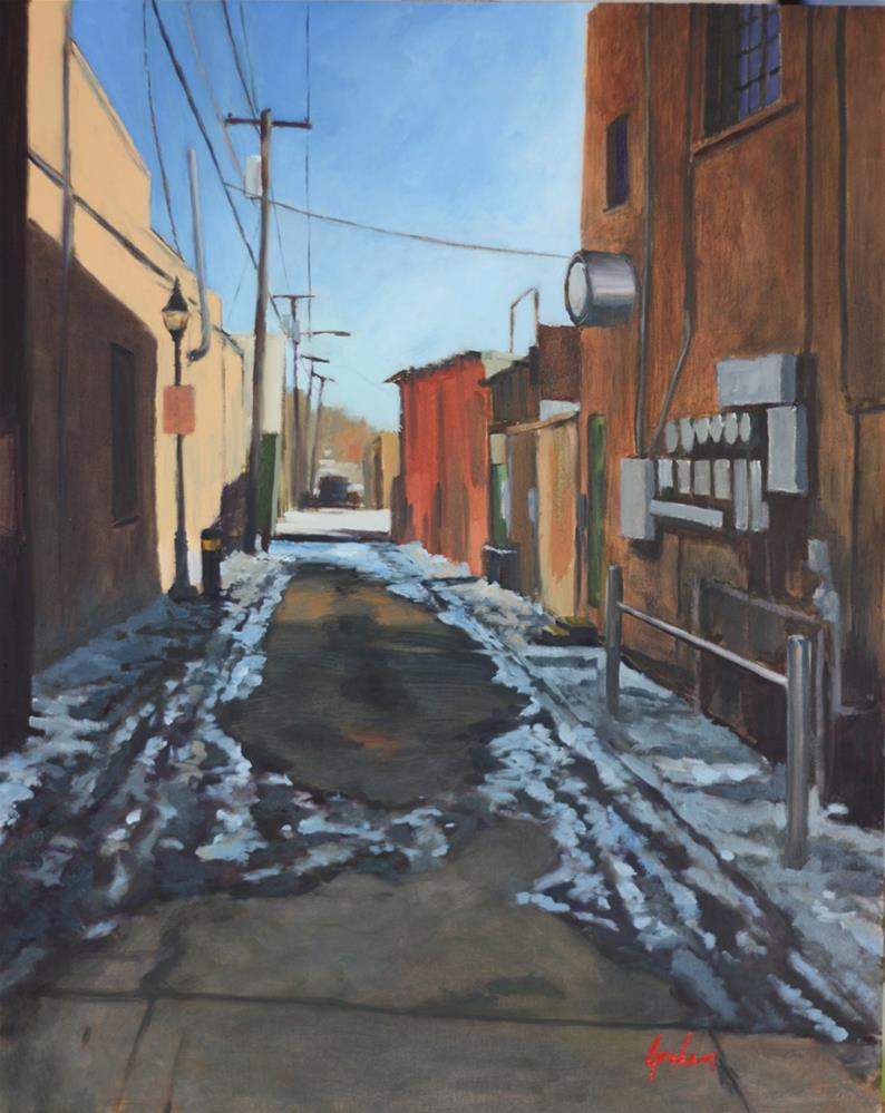 """Off San Francisco Street."" original fine art by Graham Townsend"