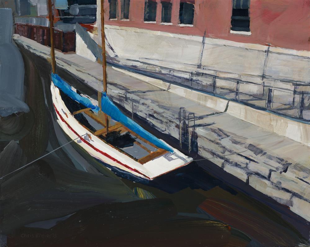 """""""Commercial Slip"""" original fine art by Chris Breier"""