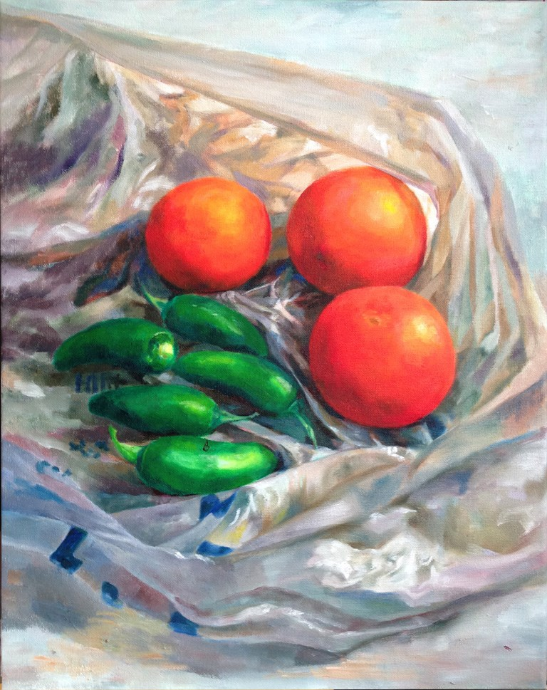 """Veggie"" original fine art by Joy Cai"