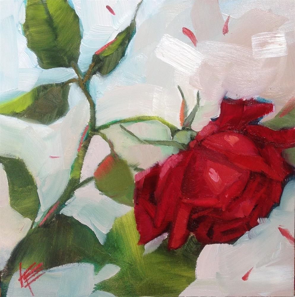 """""""Sweet Rose II"""" original fine art by Krista Eaton"""