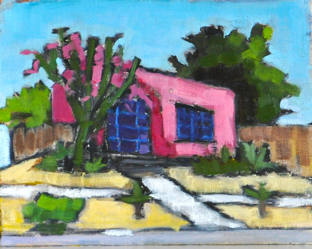 """""""Pink House in North Park San Diego"""" original fine art by Kevin Inman"""