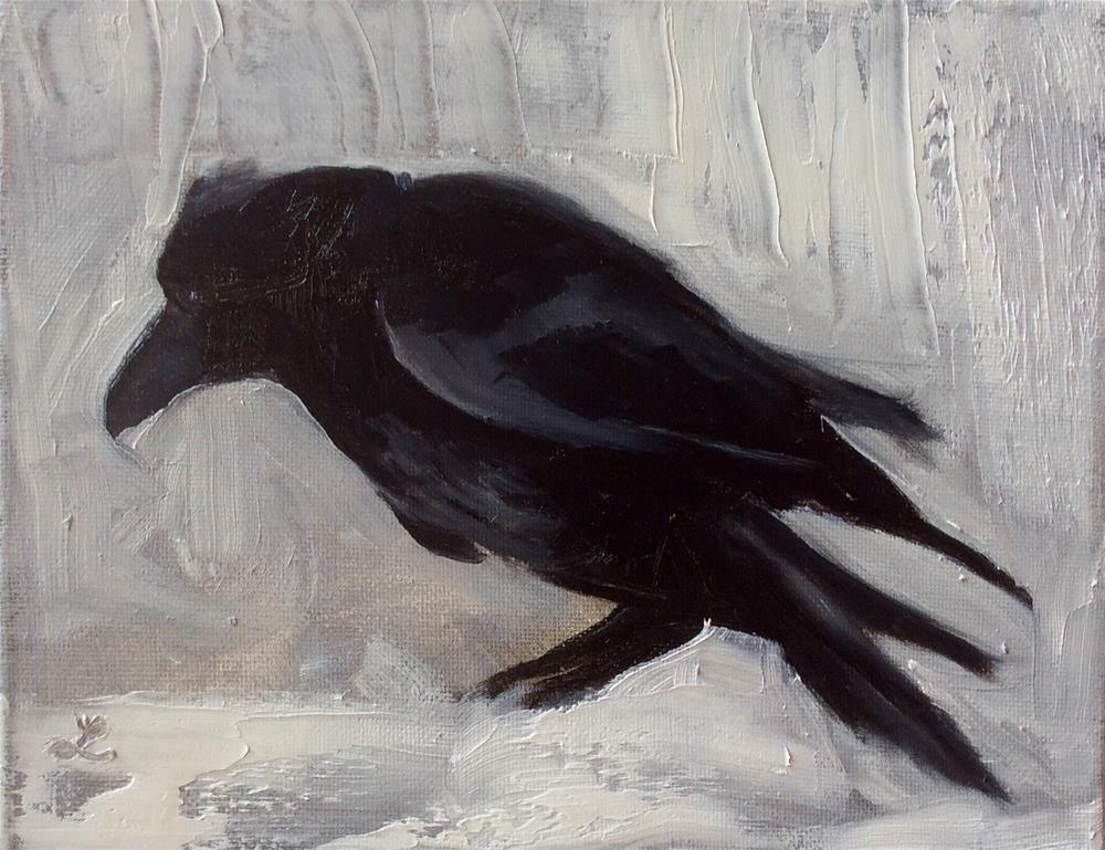 """Crow #6"" original fine art by Lori Jacobs - Farist"