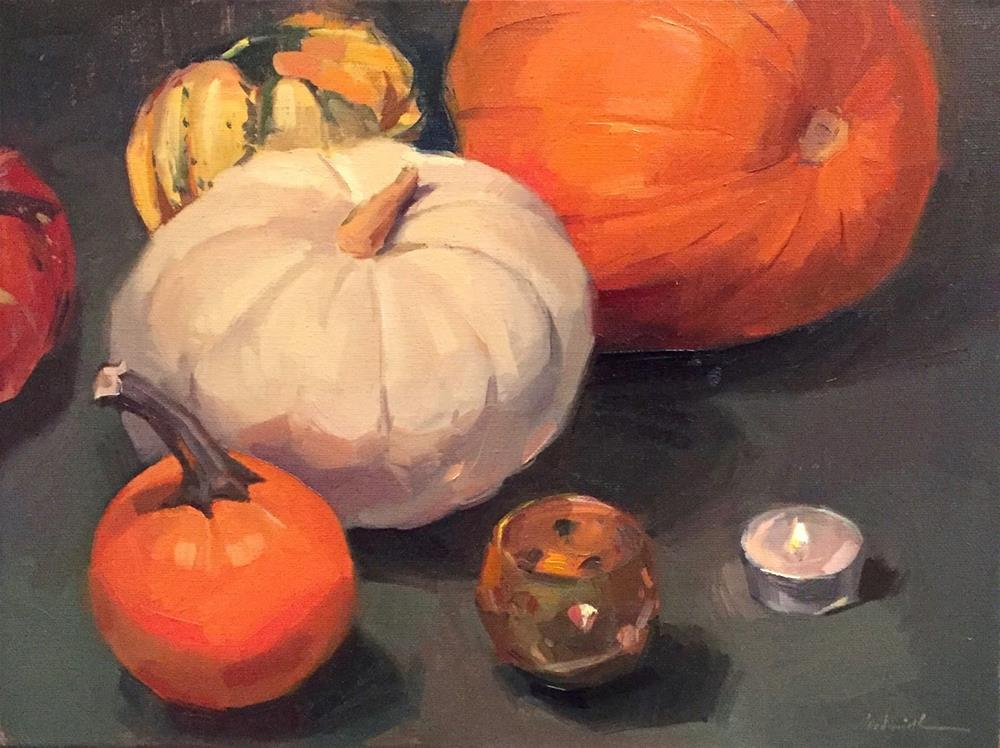"""Ghost Pumpkin"" original fine art by Sarah Sedwick"