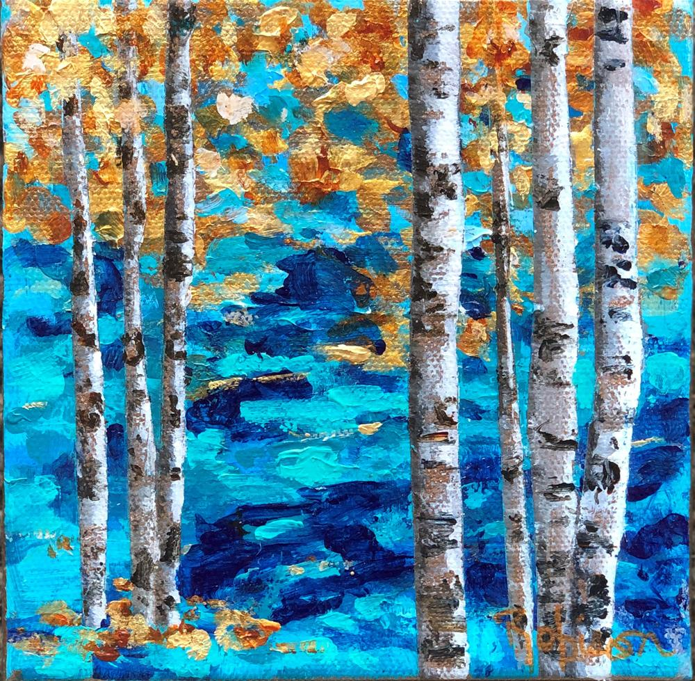 """Blue Forest #4"" original fine art by Renee Robison"