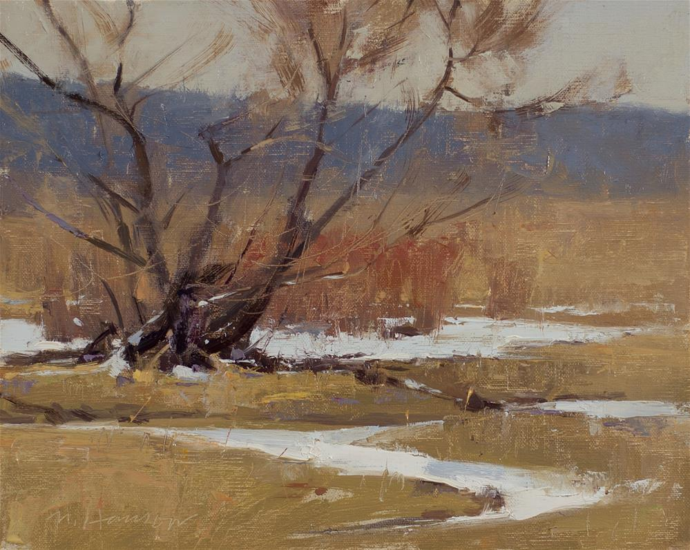"""2-14-4 Willow Central"" original fine art by Marc Hanson"