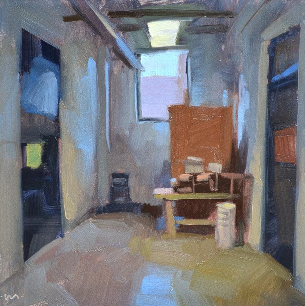 """""""Junk in the Corner"""" original fine art by Carol Marine"""