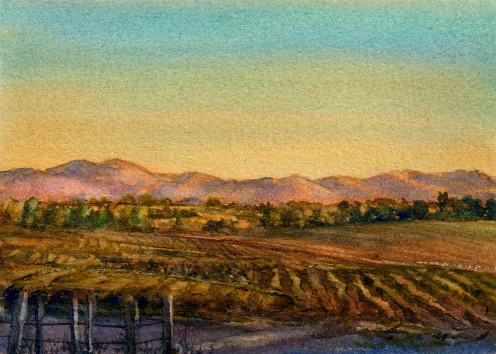 """Mist in the Morning"" original fine art by Linda Henry"