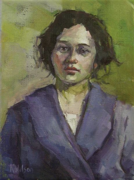 """""""Purple Robe"""" original fine art by Katie Wilson"""