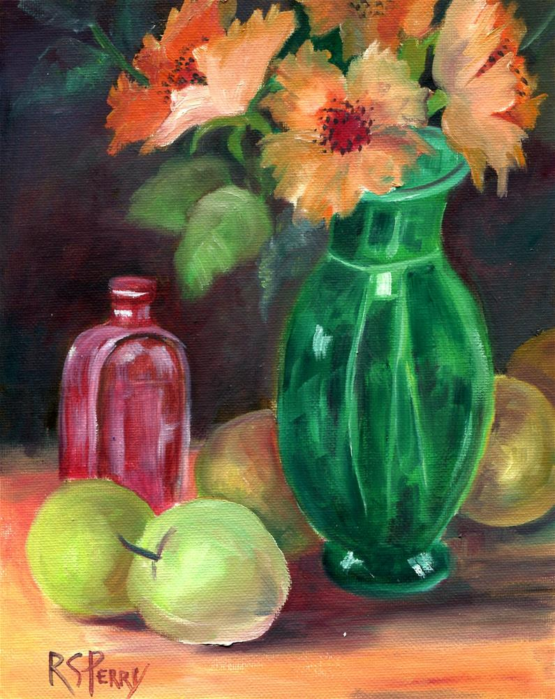 """""""Green with Envy"""" original fine art by R. S. Perry"""