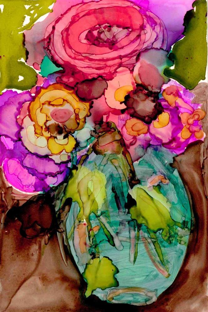"""""""Spring vase"""" original fine art by Kelly Alge"""