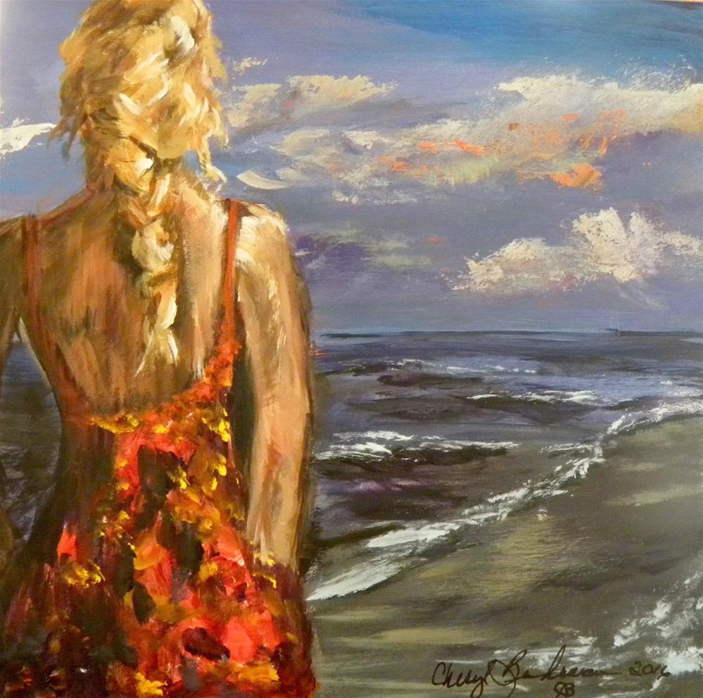 """Dusk at Destin"" original fine art by cheryl buhrman"