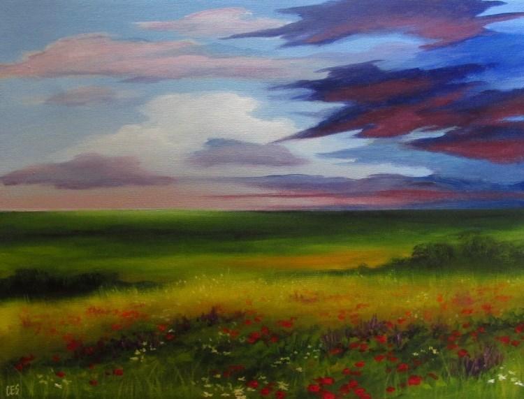 """""""Wildflowers"""" original fine art by ~ces~ Christine E. S. Code"""