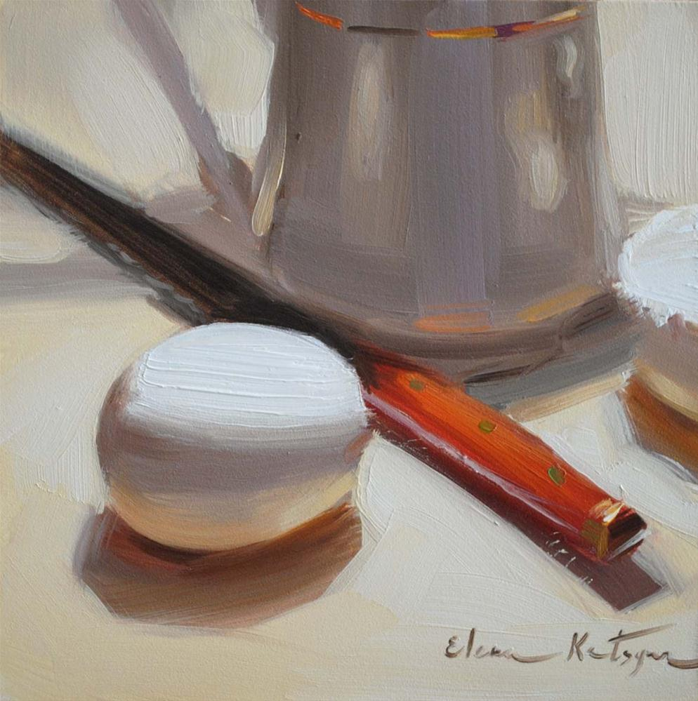 """Egg and Creamer"" original fine art by Elena Katsyura"