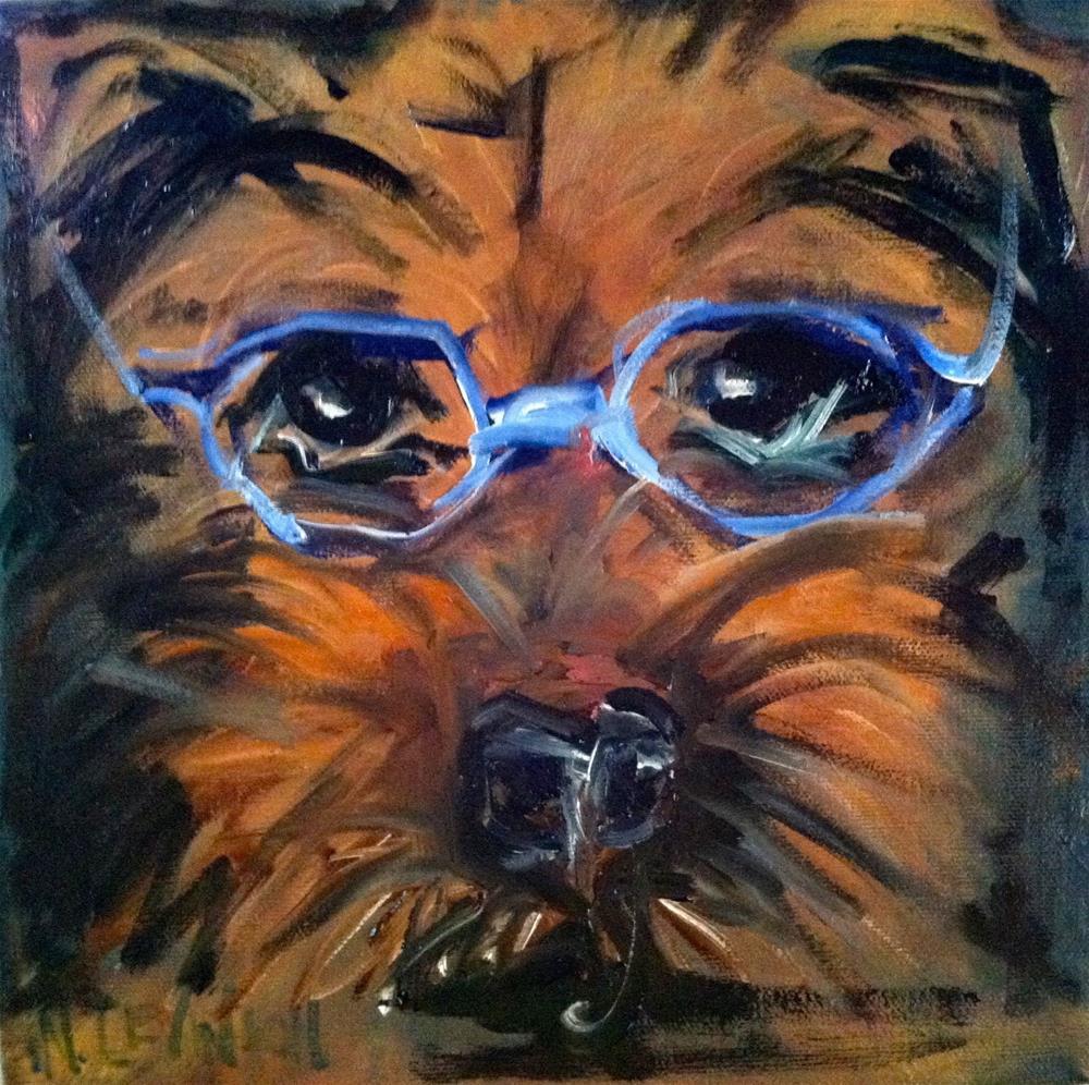 """An Intellectual"" original fine art by Nancy Levinson"