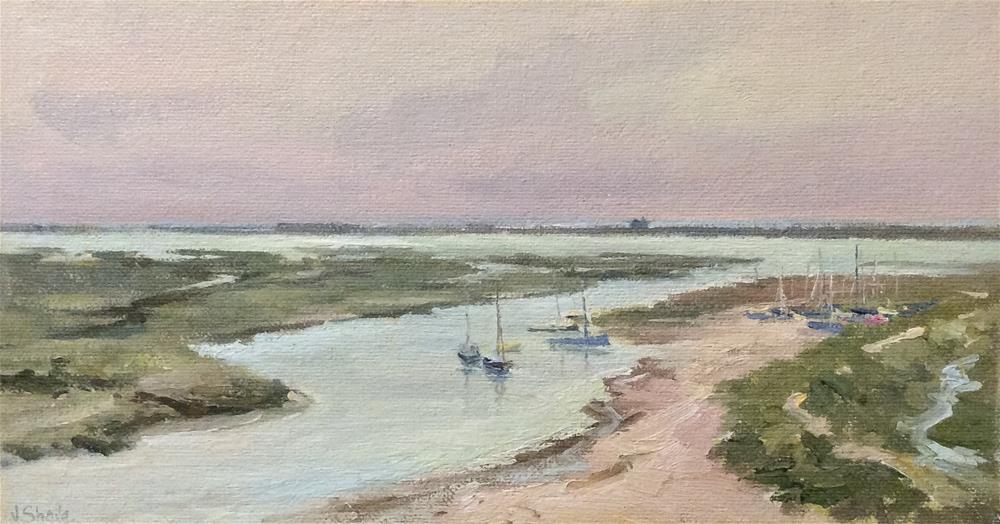 """""""Blakeney  Marshes"""" original fine art by John Shave"""