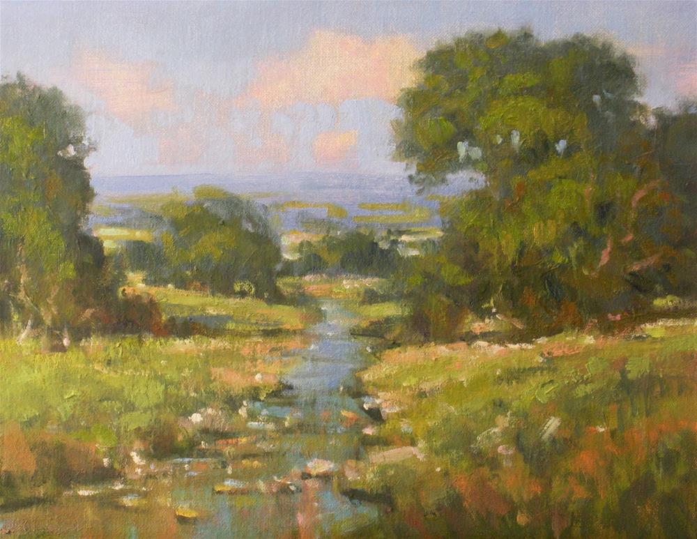 """A Creek in the Hills"" original fine art by David Forks"