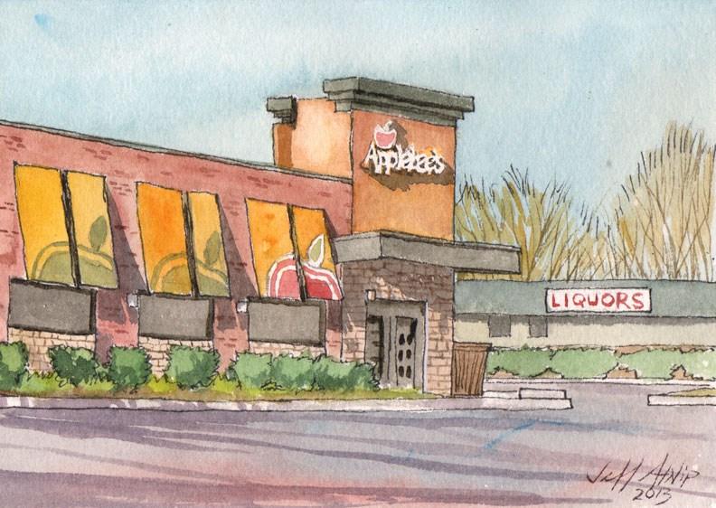 """Appleby's in Tullahoma, TN"" original fine art by Jeff Atnip"
