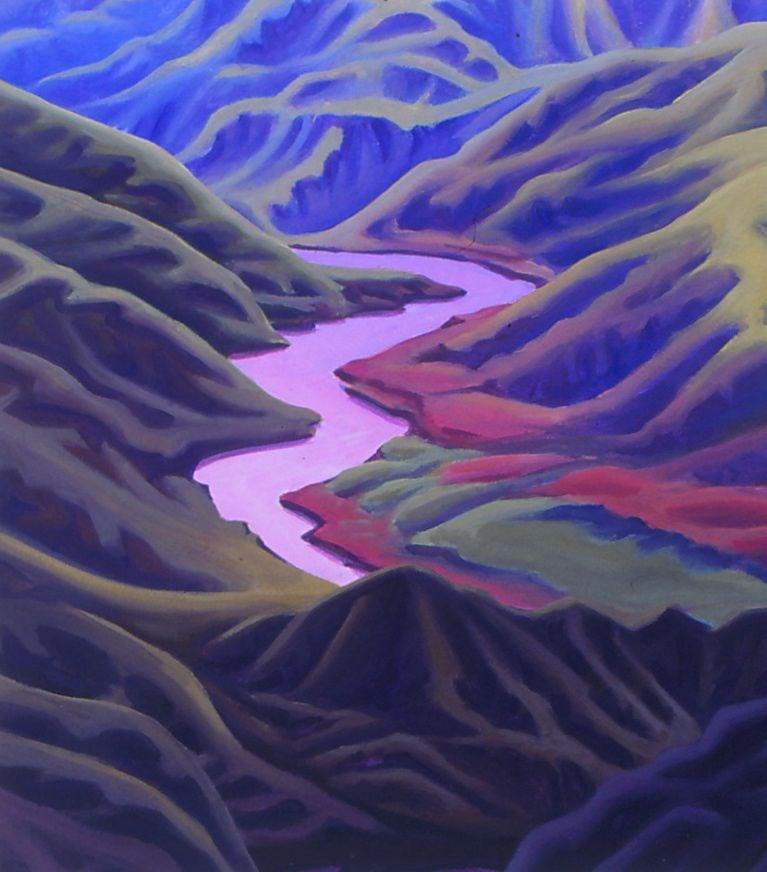 """Pink Lightning"" original fine art by Mark Allison"