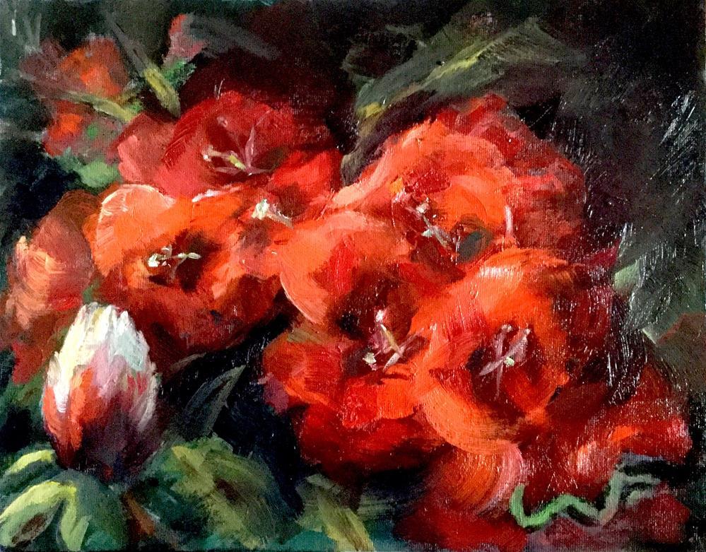 """""""Blossoms"""" original fine art by Sharon Abbott-Furze"""