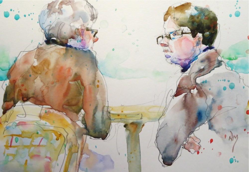 """""""in conversation"""" original fine art by Nora MacPhail"""