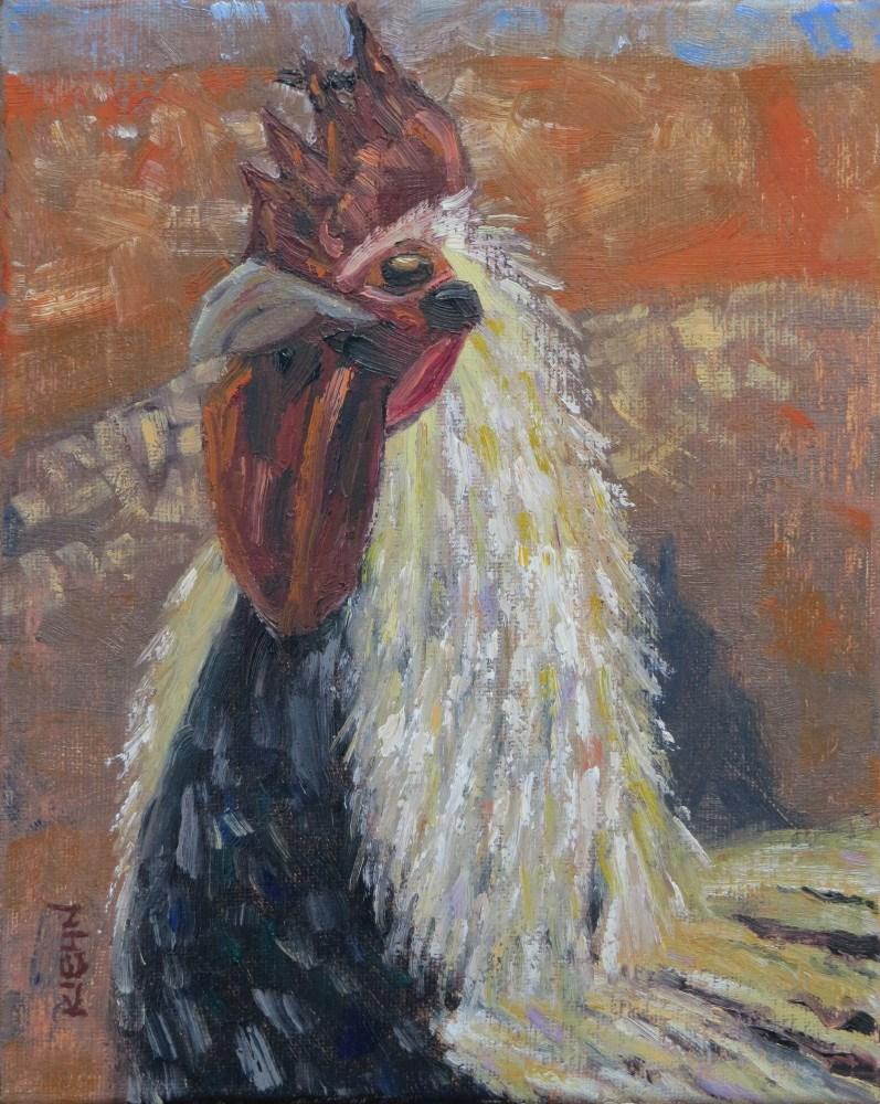 """Rooster"" original fine art by Richard Kiehn"