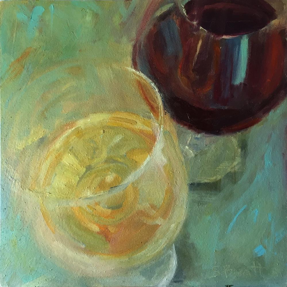 """Riesling and Merlot"" original fine art by Sherri Burritt"
