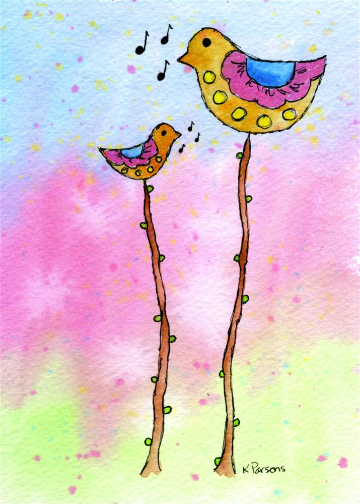 """Tweet!"" original fine art by Kali Parsons"