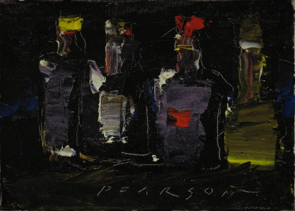 """4 Abstract Bottles"" original fine art by Dennis Pearson"