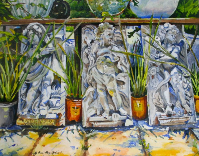 """Pot Guards"" original fine art by JoAnne Perez Robinson"