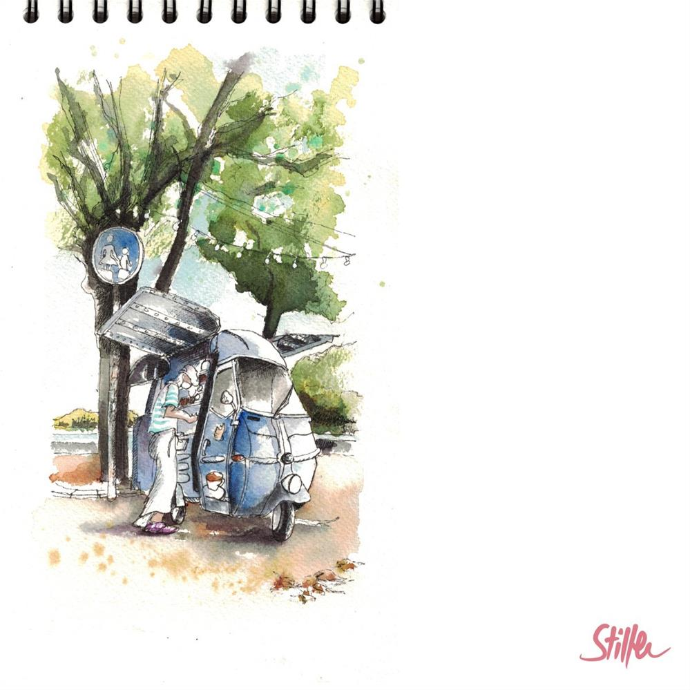 """3318 Storytelling III"" original fine art by Dietmar Stiller"