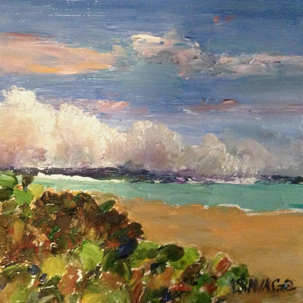 """Beach Clouds"" original fine art by Judy Usavage"