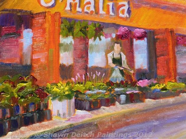 """""""O'Malia Food Market"""" original fine art by Shawn Deitch"""