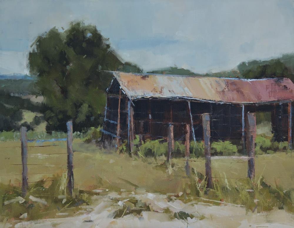 """""""Better Days - Best In Show - 1st Place Winner at Kerrville Outdoor Painter's Event"""" original fine art by Julie Davis"""