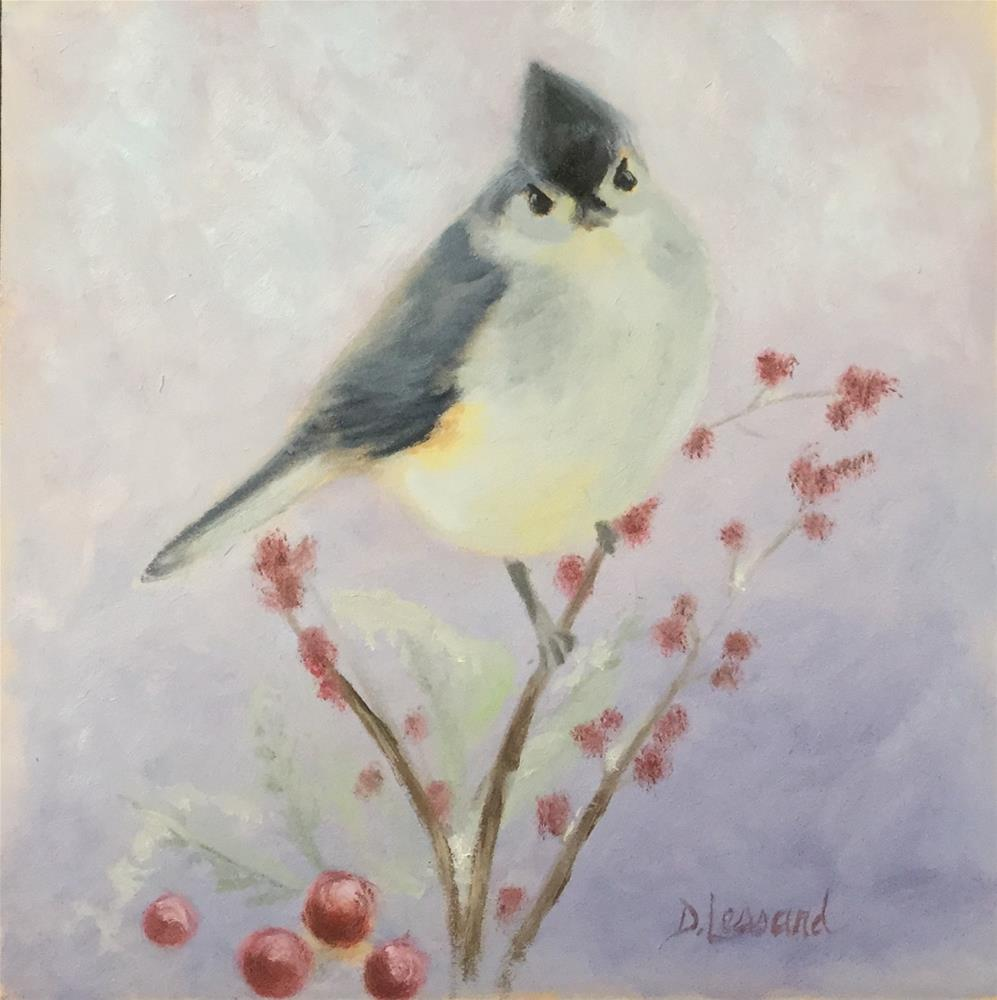"""Tufted Titmouse"" original fine art by Dee Lessard"