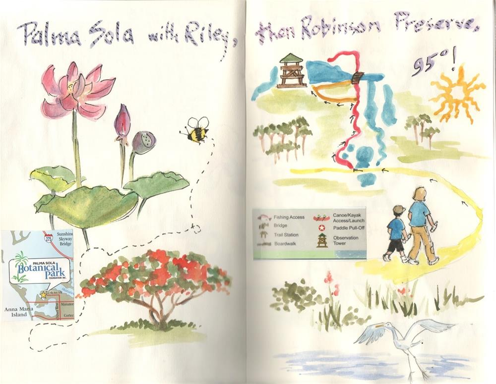 """""""Three Hikes, Pages from my Journal"""" original fine art by Carmen Beecher"""