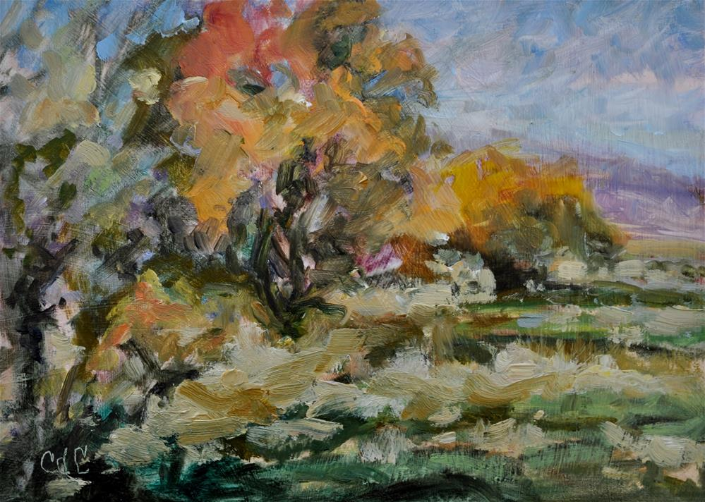 """Beginning of Fall"" original fine art by Catherine Crookston"