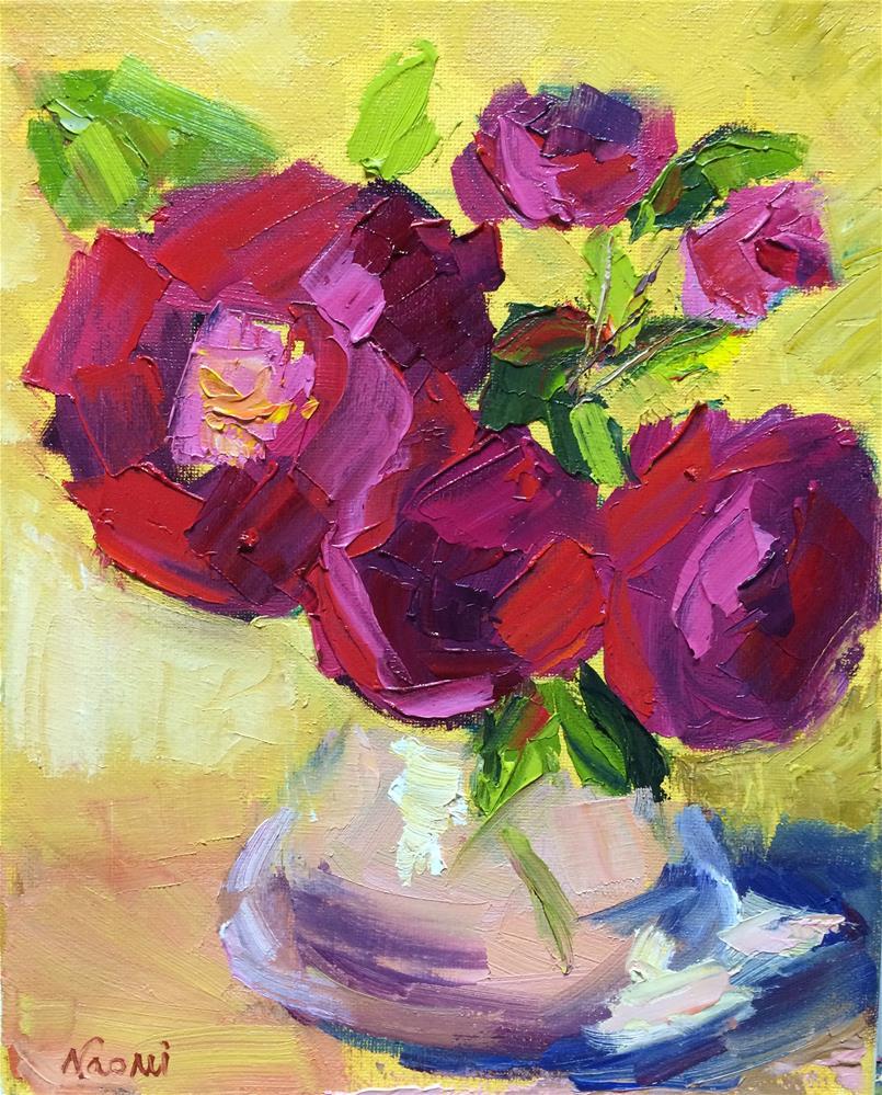 """Red Roses"" original fine art by Naomi Bautista"