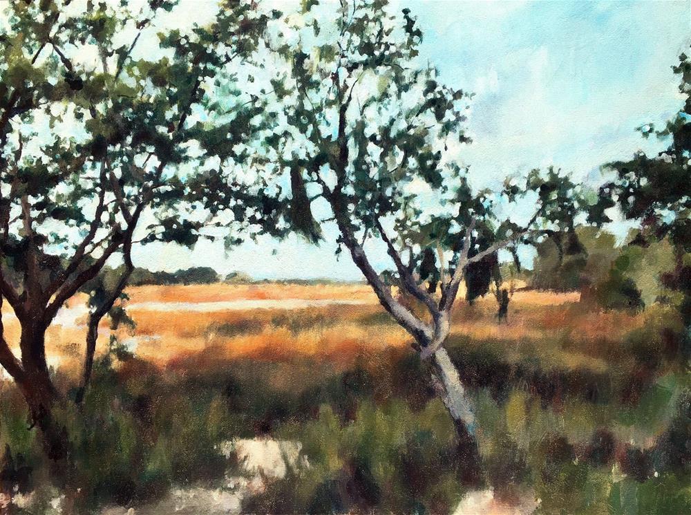 """Through the Window of the Willows"" original fine art by Nava Judith"