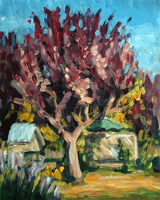 """Rusty Tree"" original fine art by J. Farnsworth"