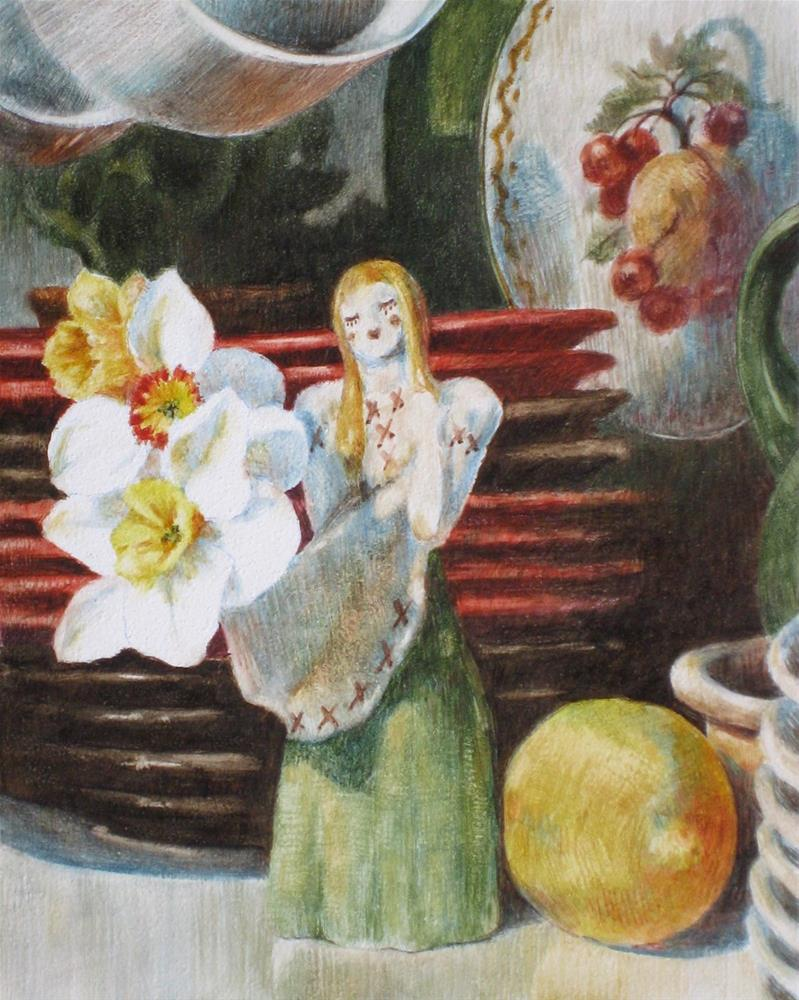 """""""Heidi with Daffodils and a Lemon"""" original fine art by Ginger Pena"""