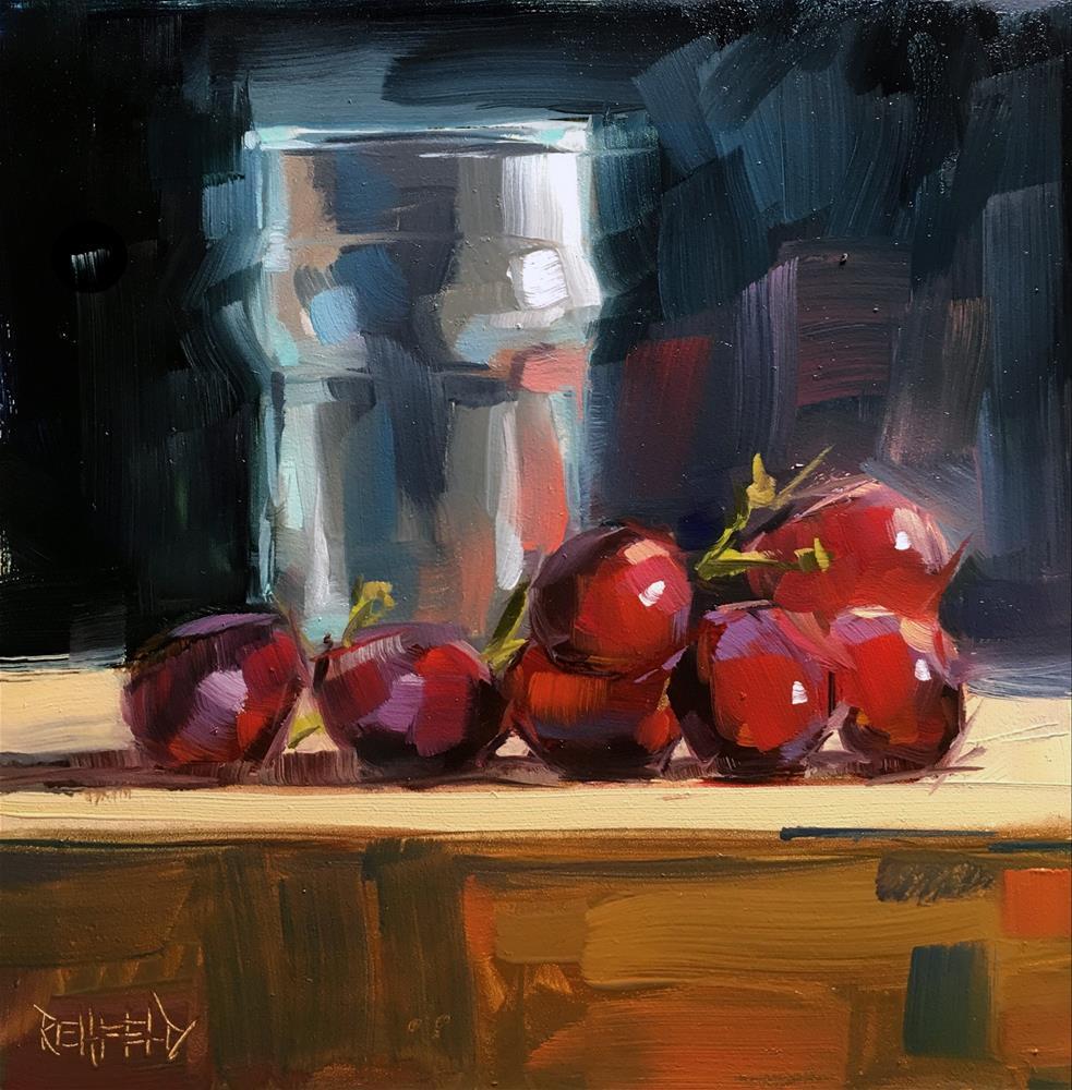"""Crazy Grapes"" original fine art by Cathleen Rehfeld"