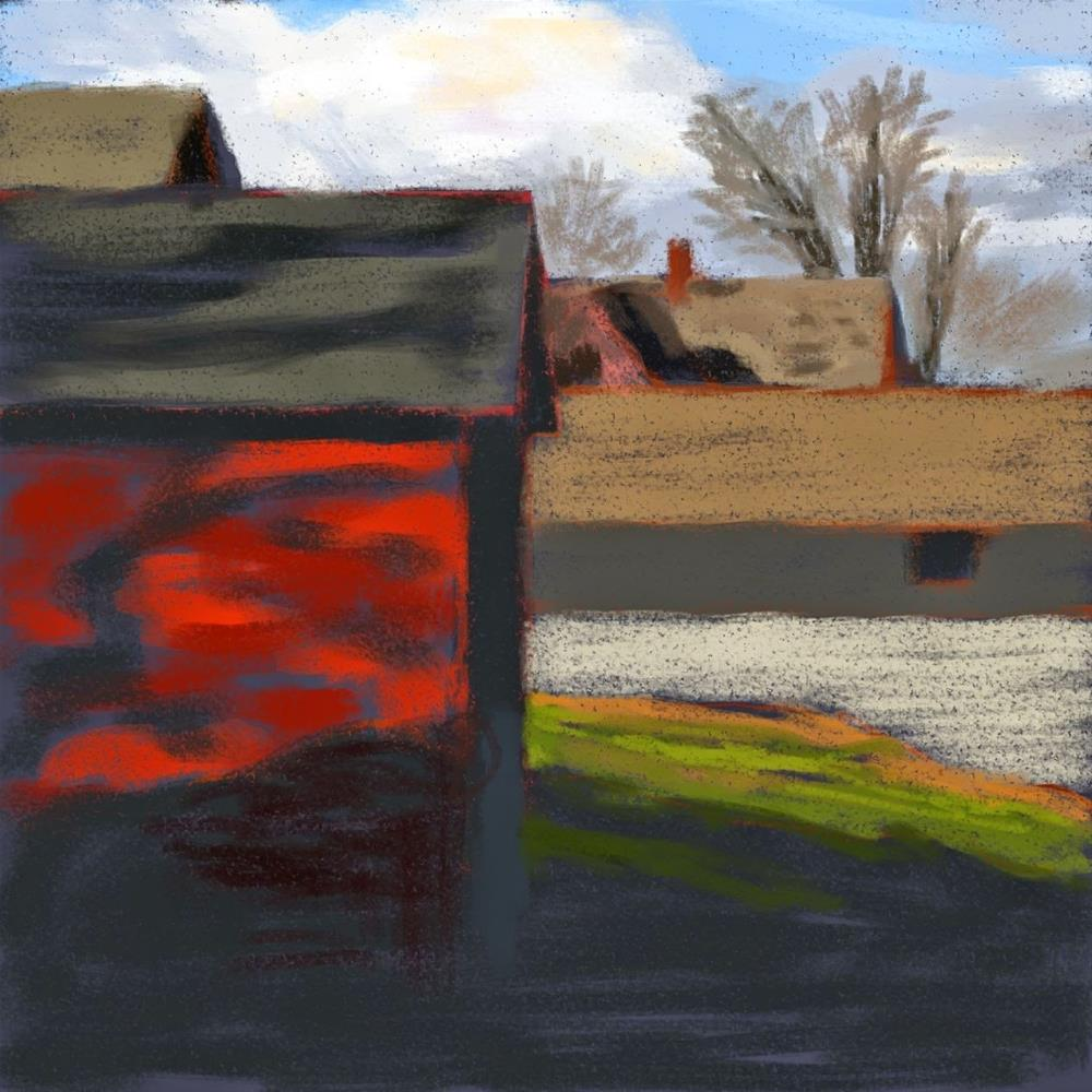 """In the Backyard"" original fine art by Gary Westlake"